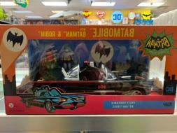DC FUNKO BATMAN 66 BATMOBILE WITH BATMAN AND ROBIN NIB