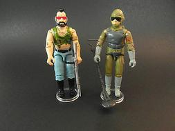 GI JOE STANDS FOR DISPLAY VINTAGE ACTION FIGURES - CLEAR X 2