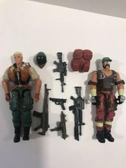 Gi Joe Vs Cobra Duke Vs Ripper Action Figures 2002 Hasbro Lo