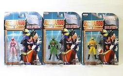 Goranger Action Figure Collection 3 Carded Figures Japan Ban
