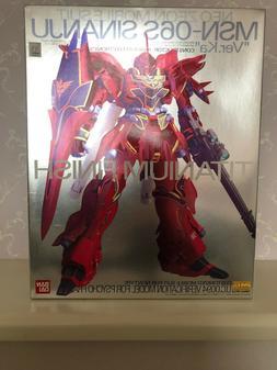 NEW Gundam MSN-06S Sinanju Ver Ka Titanium Finish MG 1/100 S