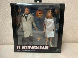 "NECA Halloween II Laurie Strode & Dr. Loomis 8"" Clothed Figu"