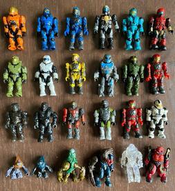 Halo Mega Bloks mixed lot of 24 action figures - used