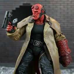"Hellboy Mezco HB 7"" Action Figure Smoking Ver. Series 2 Coll"