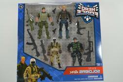 Hero Force Elite Soldiers 4 Pack Action Figures Lanard GI Jo