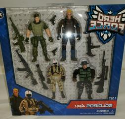 Hero Force Heroes Elite Soldier Action Figures 4pk 7 Accesso