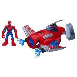 Playskool Heroes Spiderman Figure Deluxe Action Gear Plane,
