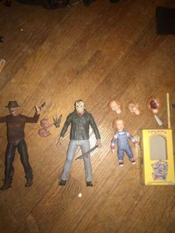 neca horror figures lot