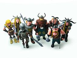 Max Fun Set of 8 Pcs How To Train Your Dragon Action Figures