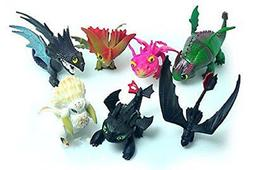 Max Fun Set of 7 Pcs How To Train Your Dragon Night Fury Too