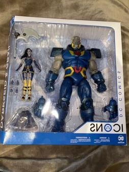 "DC Collectibles Icons 12"" Darkseid & Grail Action Figures. N"