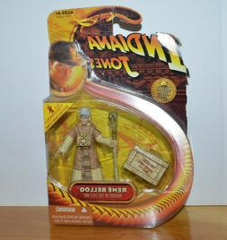 "INDIANA JONES RENE BELLOQ ACTION FIGURE MOC 3.75"" HASBRO 200"