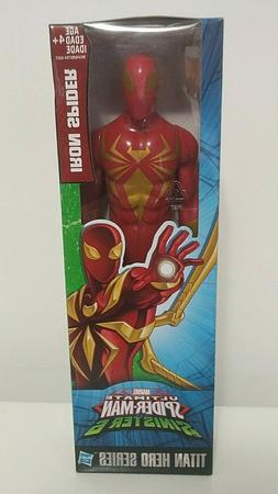 "IRON SPIDER 12"" INCH ACTION FIGURE Titan Hero Series By HASB"