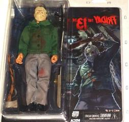 "8"" JASON VOORHEES figure RETRO-STYLE CLOTHED series FRIDAY T"