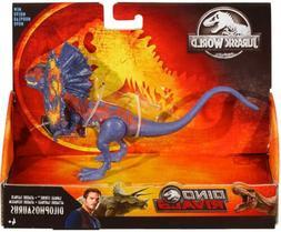 Jurassic World Dino Rivals Dilophosaurus Dinosaur Figure Sav