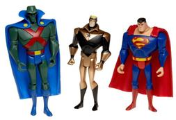 Justice League Basic Figures: Superman, Man Hunter, Booster