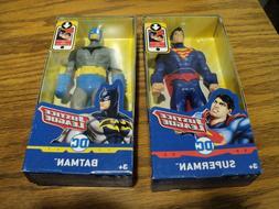 """Justice League Superman & Batman 6"""" Action Figures DC Comics"""