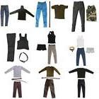 1/6 Scale 12 inch Male Action Figure Clothes Top & Pants Set