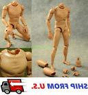 1/6 Scale Narrow Shoulder Male Figure Body For Hot Toys TTM1