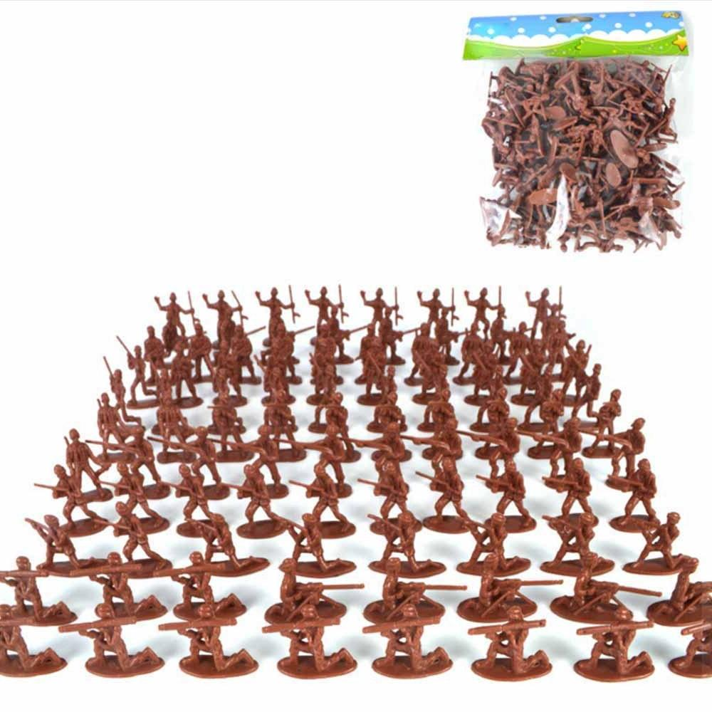 100pcs/Pack <font><b>Military</b></font> Plastic Army Figures <font><b>Kit</b></font> <font><b>Model</b></font> For Boys