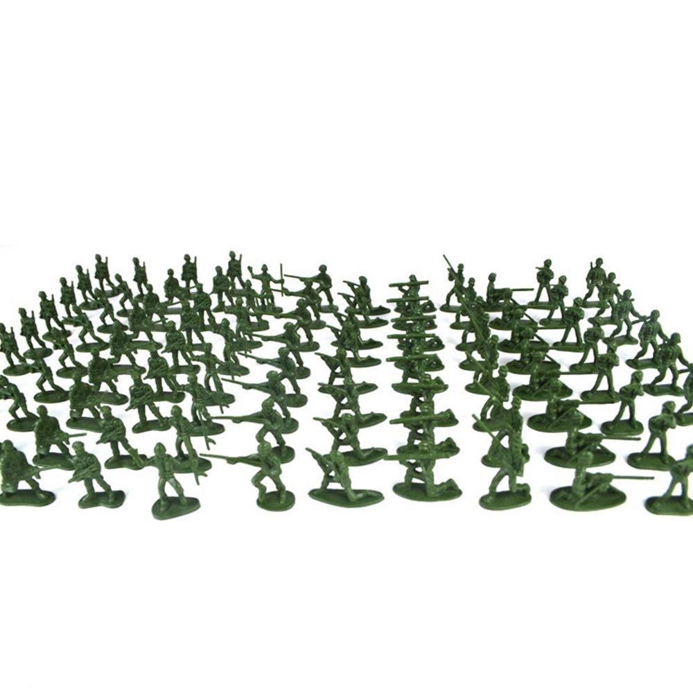 100pcs/Pack Mini Soldier <font><b>Model</b></font> <font><b>Military</b></font> Plastic Army Men Playset <font><b>Kit</b></font> <font><b>Model</b></font> For