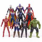 10pcs Marvel Avengers 3 Infinity War Thanos LED Action Figur