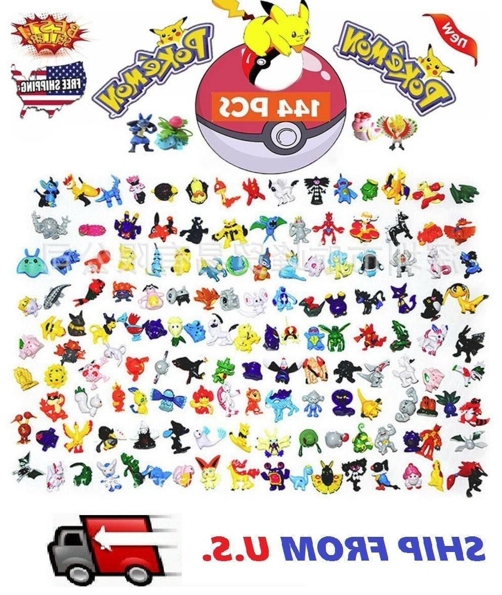 144 PCS Pokemon Mini Action Figures Pokémon Go Toy Gift Set