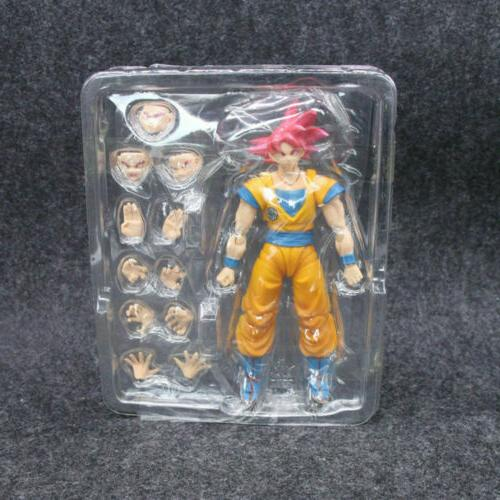 16CM Ball Z Red Super Red Gokou Action
