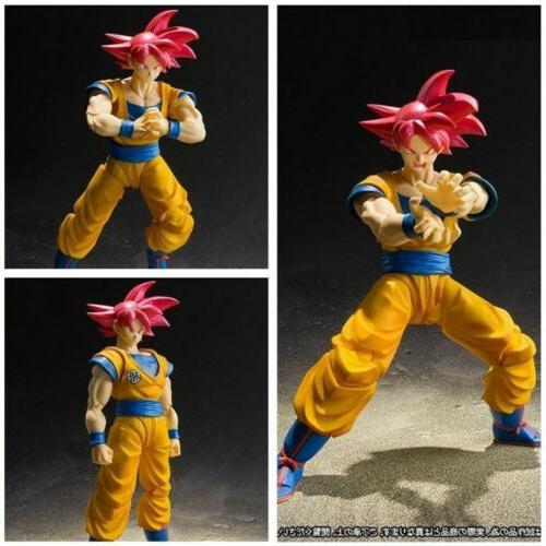 16CM Red SS Son Goku Gokou Figure Action
