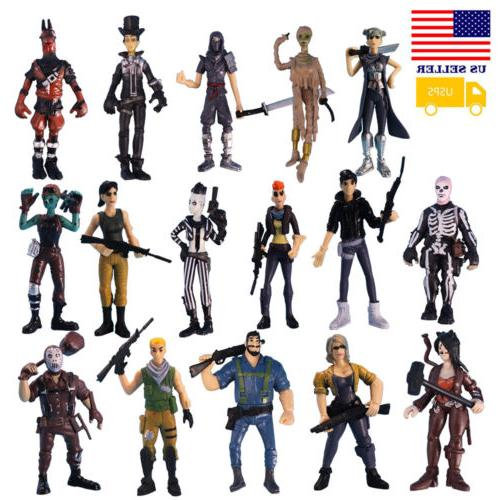 16pcs fortnite skull character toy game action