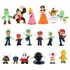 18Pcs/Set Super Mario Bros Brothers Yoshi Action Figures Pla
