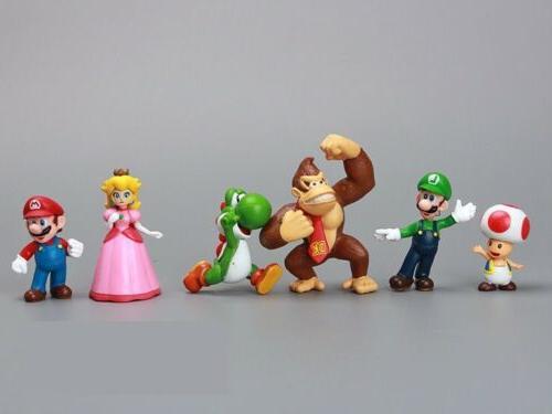 18pcs Super Mario Playset Figurine Gift
