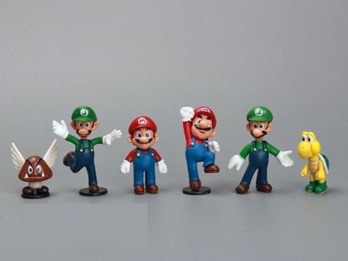18pcs Mario PVC Doll Playset Figurine Gift