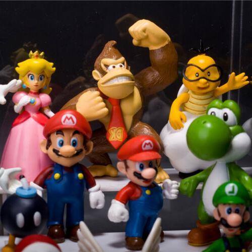 Super Mario Bros Lot 18pcs Figure Doll Playset Toy Dolls