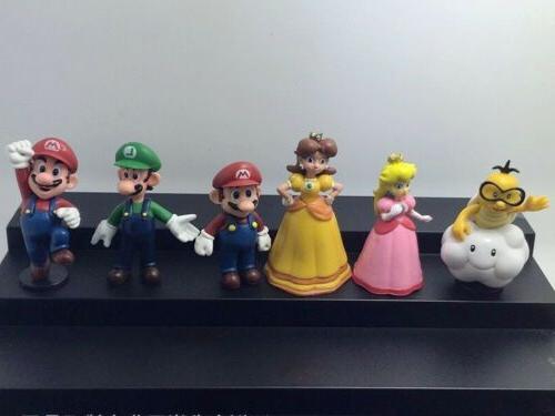 Super Bros Lot 18pcs Figure Playset Figurine Dolls