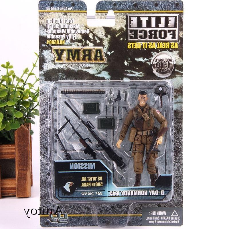 Army Soldiers <font><b>Action</b></font> With <font><b>Elite</b></font> <font><b>Figure</b></font> Set PVC Model