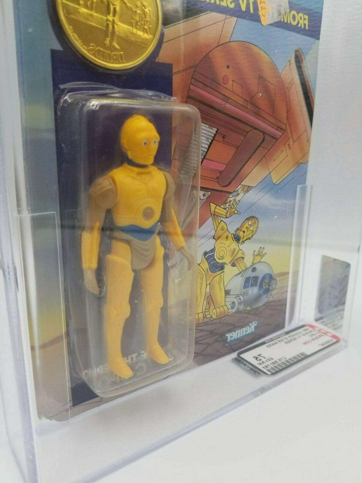 "1985 KENNER VINTAGE WARS C-3PO 3 3/4"" FIGURE AFA 75"