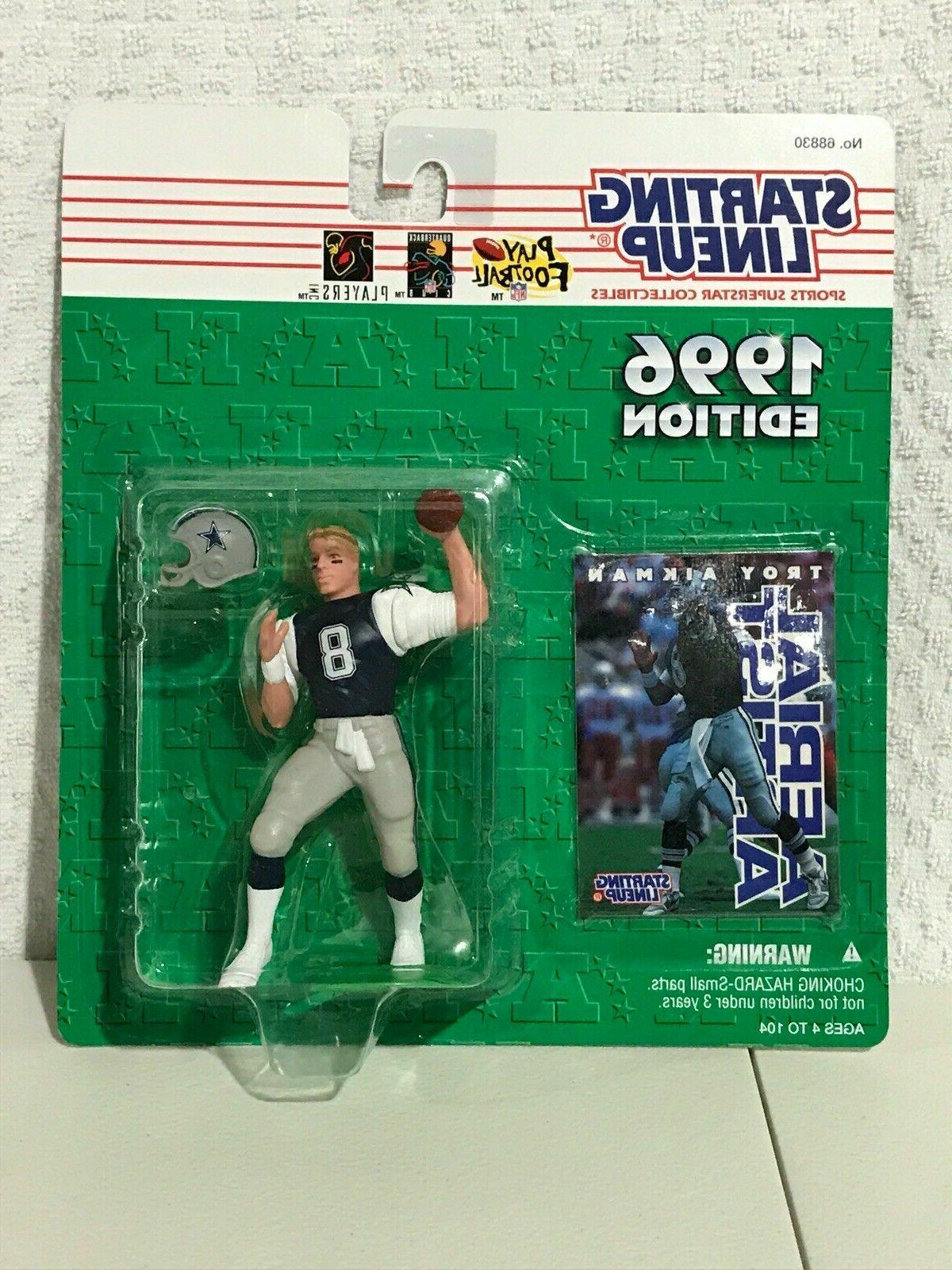 1996 TROY AIKMAN Starting LineUp Dallas Cowboys SLU white je