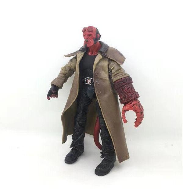 2 Type Movie HB <font><b>Hellboy</b></font> Series Includes Cigar Samaritan Handgun <font><b>Figure</b></font> Toy