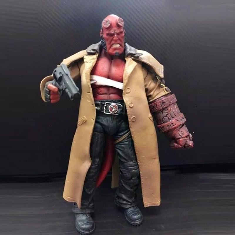 2 HB <font><b>Hellboy</b></font> Cigar Samaritan Handgun <font><b>Figure</b></font> Model Toy