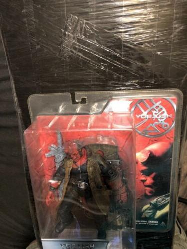 "2004 MEZCO ""HELLBOY Battle Damaged with Sword Figure"