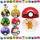 24pcs Pokemon Go Action Figures + 9pc Poke ball Pikachu Pop-