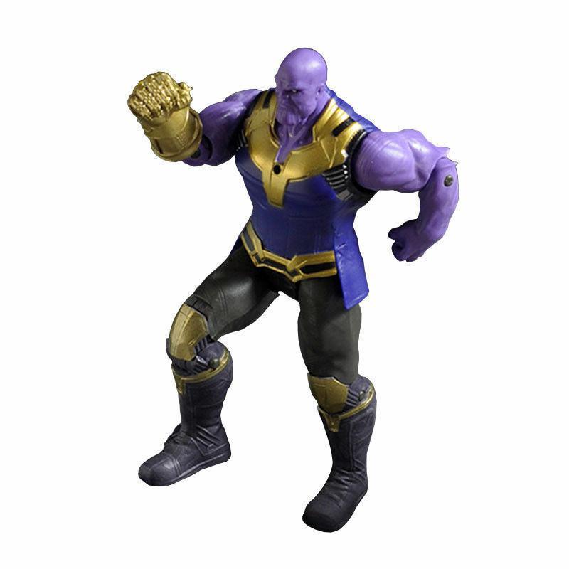 2PCS 6''Action Marvel Avengers 3 War Movable Joints Thanos Hulk