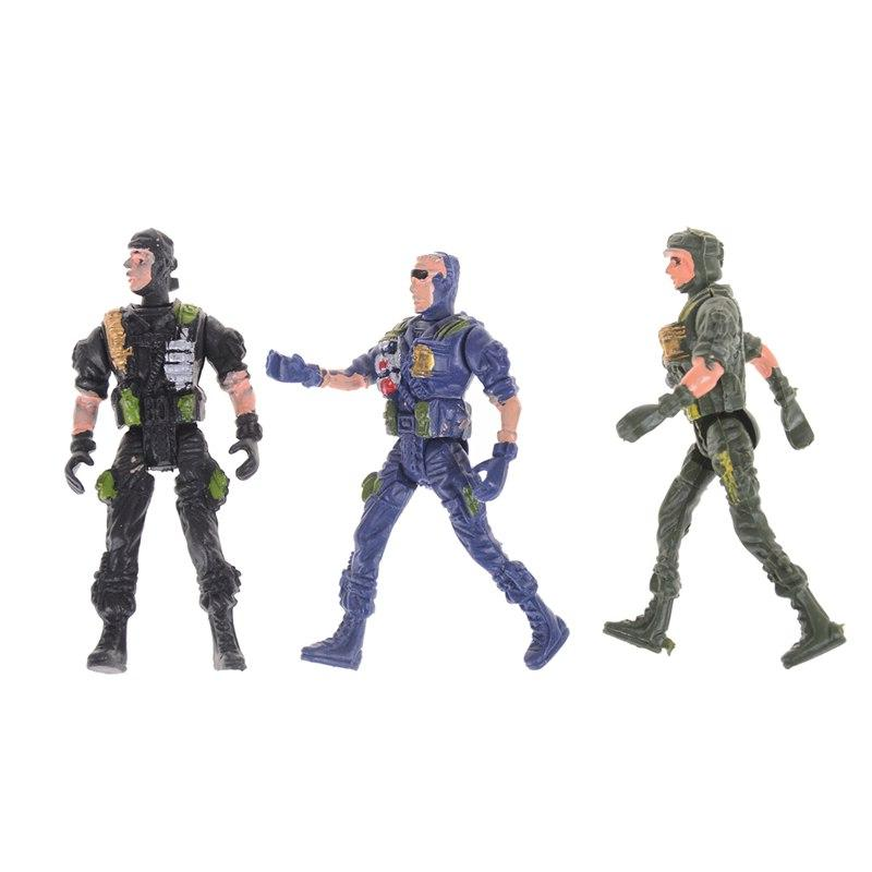 2pcs 9cm Soldier Men Military <font><b>Playset</b></font> Model toys ModelSpecial <font><b>Action</b></font> Toys Gifts