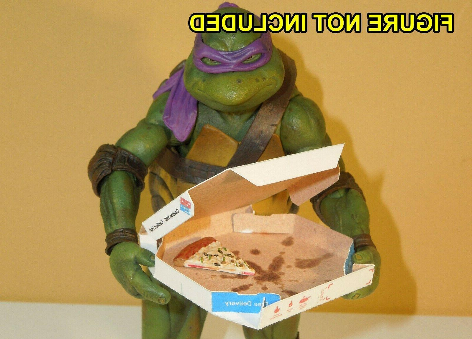 unfolded 3 Easy Fold Dominos Pizza Boxes for 1//6 Scale Action Figures