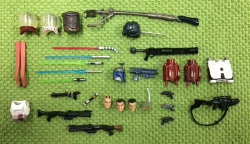 30 modern action figure weapons accessories saga