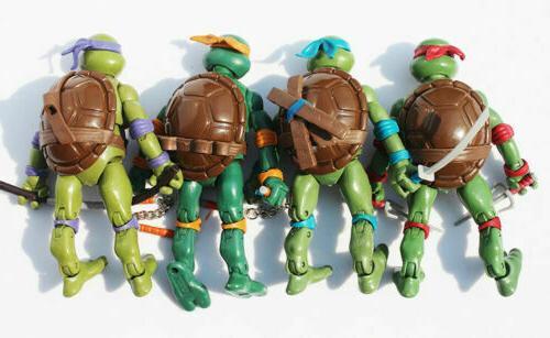 4 Pcs Teenage Ninja Turtles w/Base Donnie Ralph