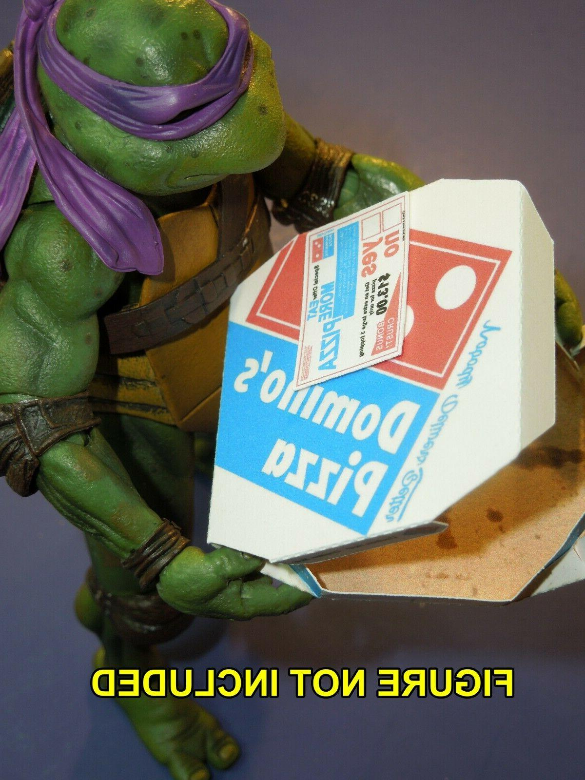 1 Easy Fold Dominos Pizza Box for Neca 7 inch Teenage Mutant