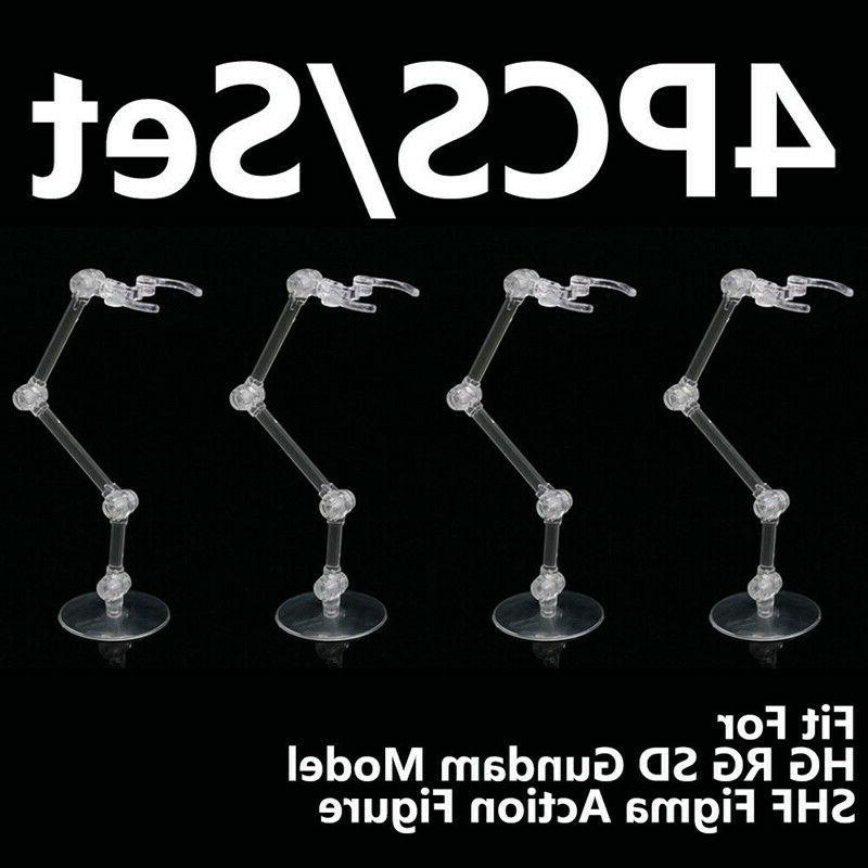 4pcs action figure base stand holder display