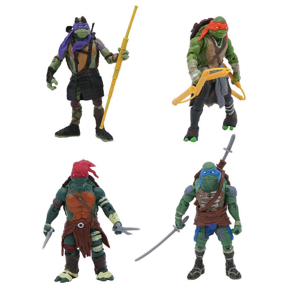 4PCS Teenage Turtles Movie Figure Gift